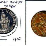 2 x london wax museum st petersburg beach florida best of luck souvenir tokens