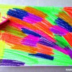 Crayon art how you can scratch art with wax crayons
