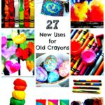 Ways to use old crayons
