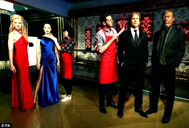 Brangelina's wax figures have previously divorced at madame tussauds museum the washington publish the previous