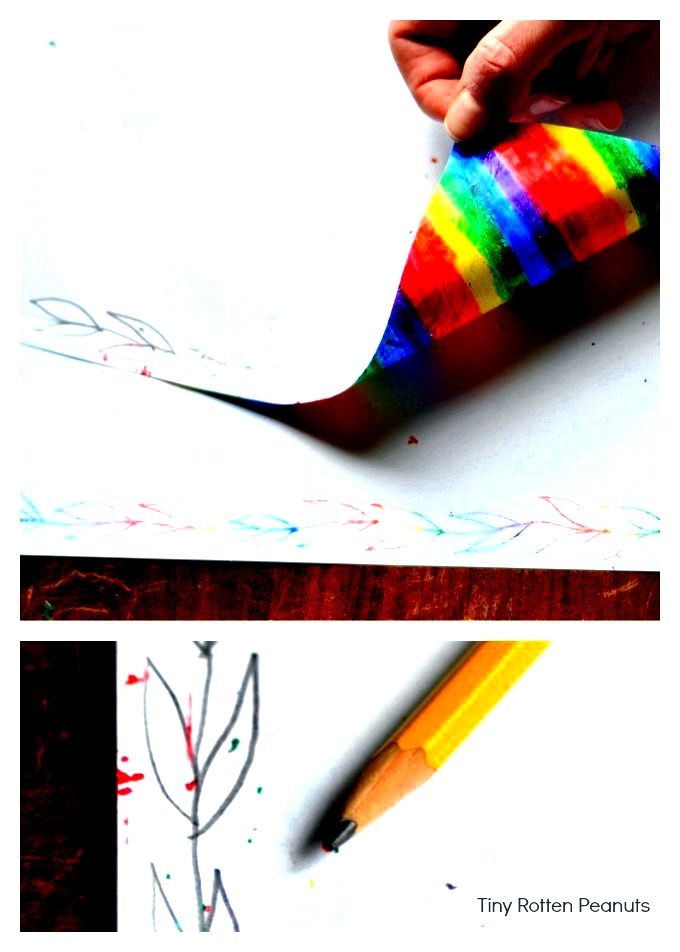 crayon transfer surfaces