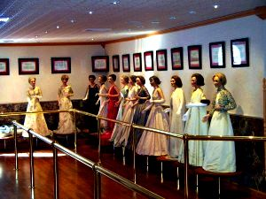 The Hall Of First Ladies in our wax museum