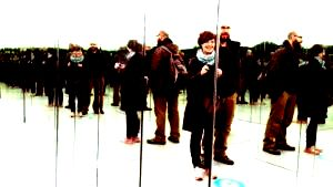 museum of illusion with a room full of mirrors