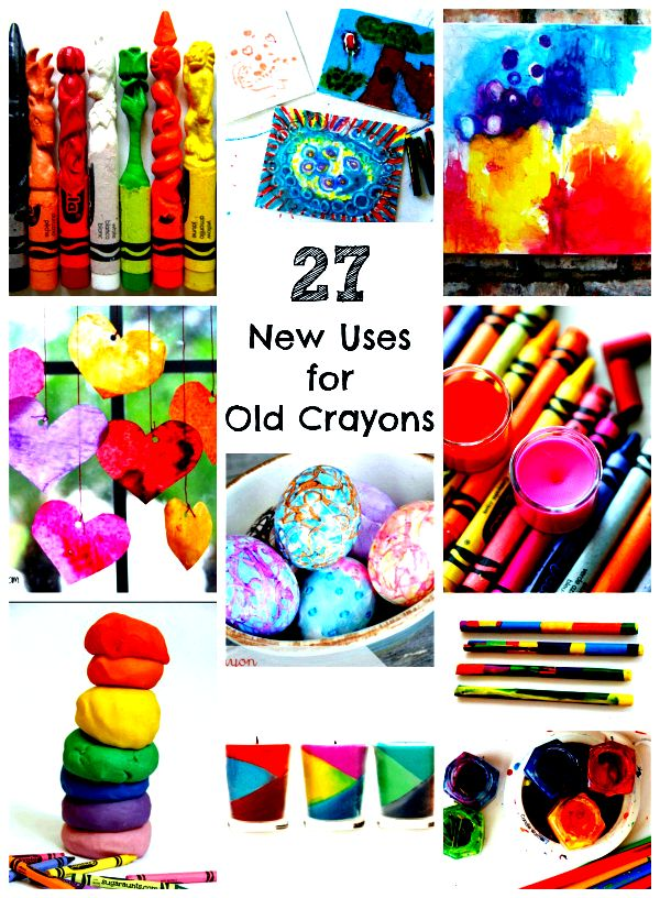 Ways to use old crayons just until they have run
