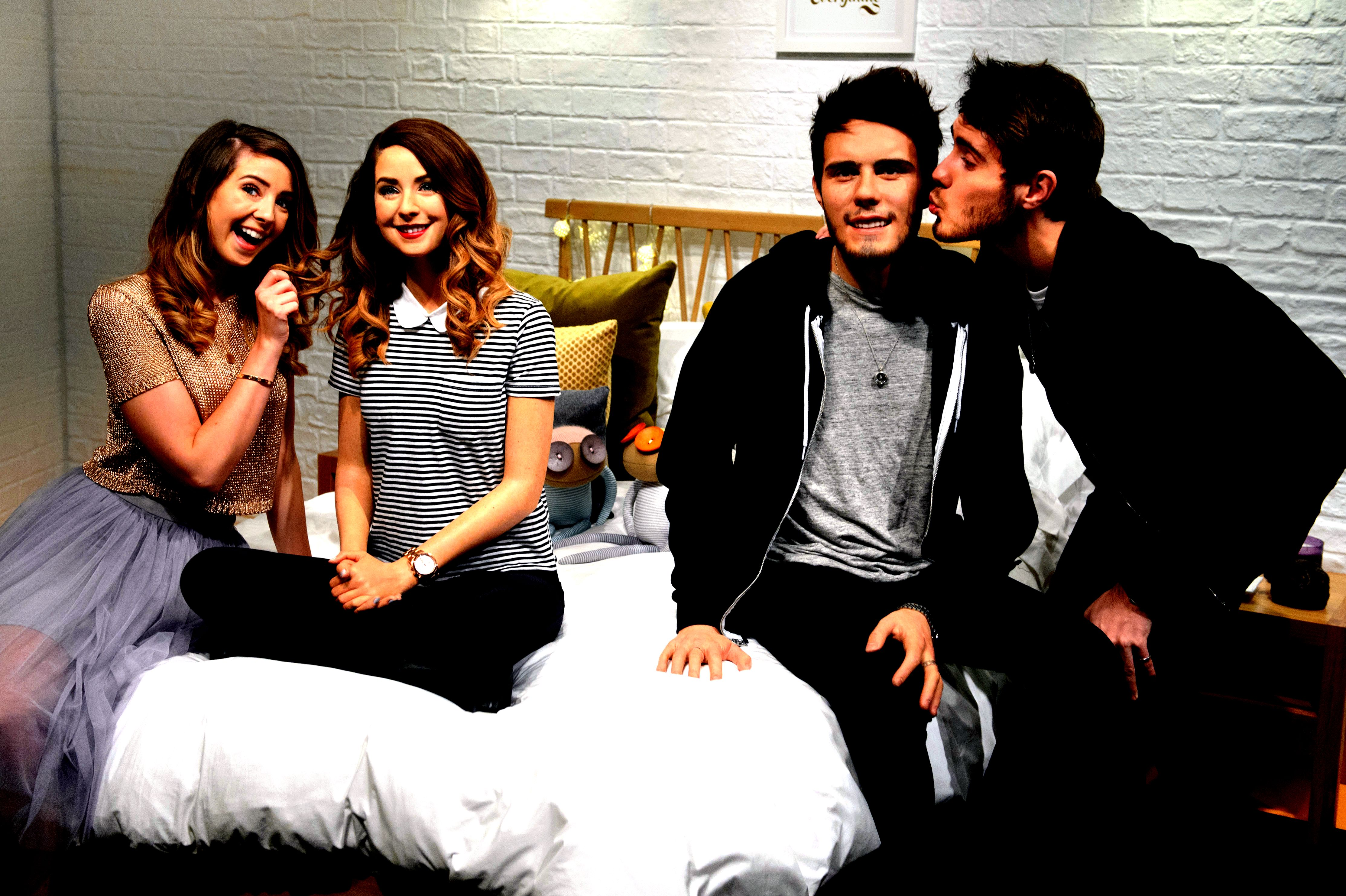 Youtube stars zoe sugg alfie deyes to make into wax statues for madame tussauds london development of their
